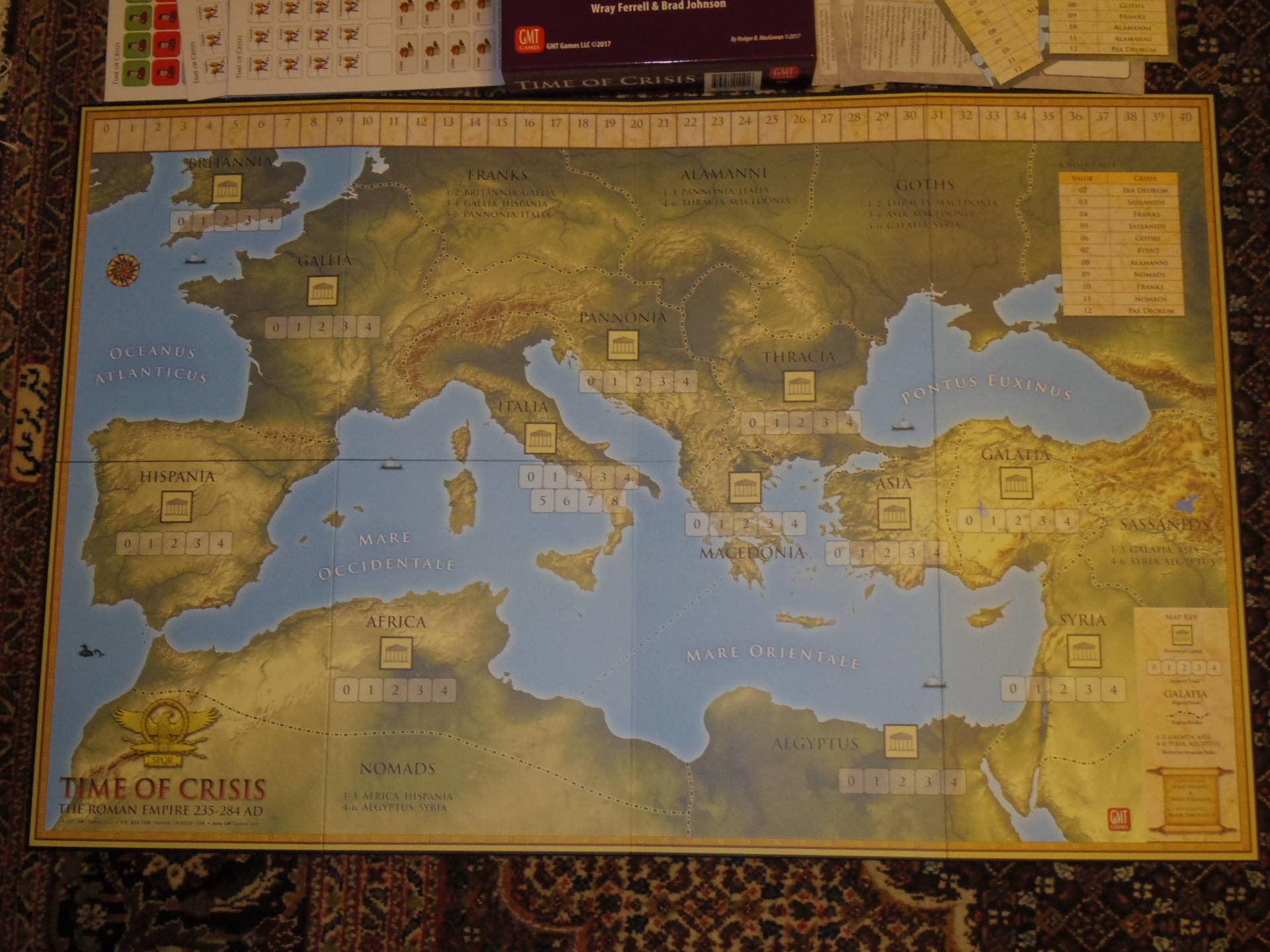 ローマ人の物語Ⅻ 「混迷する帝国」を、そのまま4人用マルチゲームにしたような...(GMT)Time of Crisis_b0173672_19342233.jpg