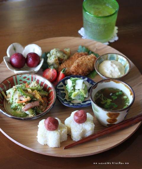 お弁当の残りランチ(๑¯﹃¯๑)♪_c0139375_13301284.jpg