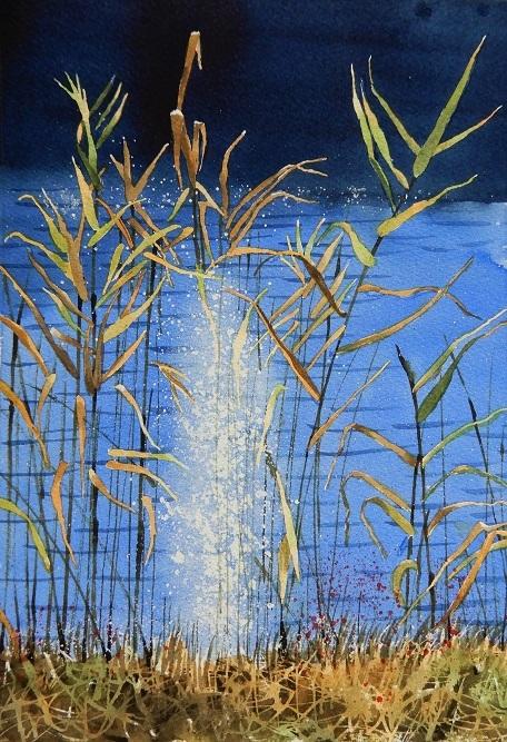 7月の教室の葦と水面のきらめきの過程_e0309795_21200716.jpg