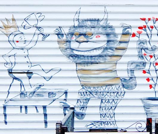 ニューヨークならではの隠れた名作アート「シャッターに描かれた絵」_b0007805_22324920.jpg