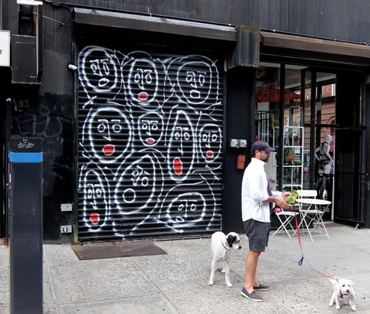 ニューヨークならではの隠れた名作アート「シャッターに描かれた絵」_b0007805_23533663.jpg