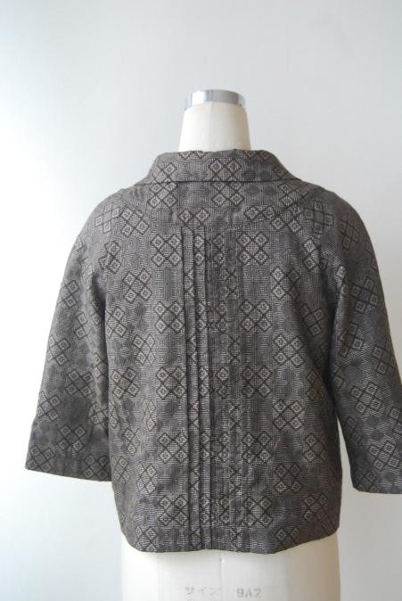 着物リメイク・大島紬からからショートジャケット_d0127925_12201388.jpg