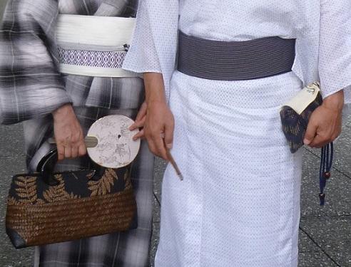上七軒ビアガーデン・小千谷縮・麻の着物のご夫妻のお客様_f0181251_12543070.jpg
