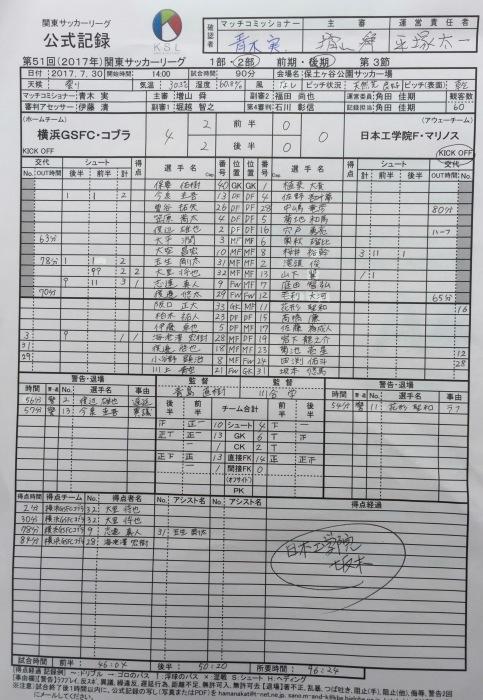 関東リーグ後期第3節vs工学院Fマリノス_a0109270_19563660.jpg