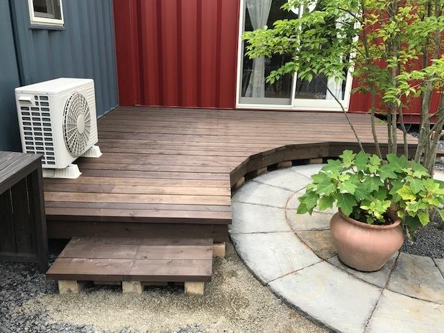 ウッドデッキ完成しました(^_^)v 太田市エクステリアのお店 Garden Flow事務所内にて!_e0361918_13045035.jpg