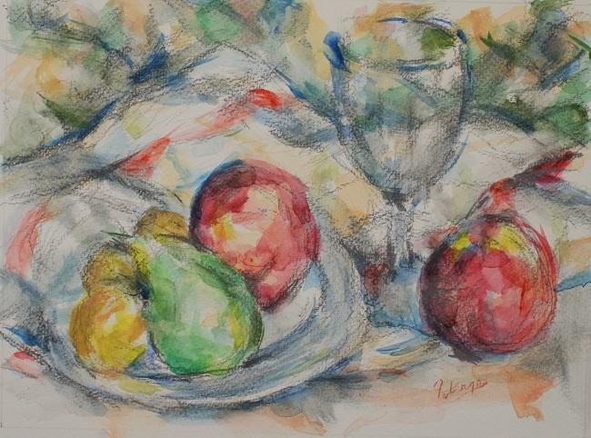 グラスと果物_c0236929_18063598.jpg