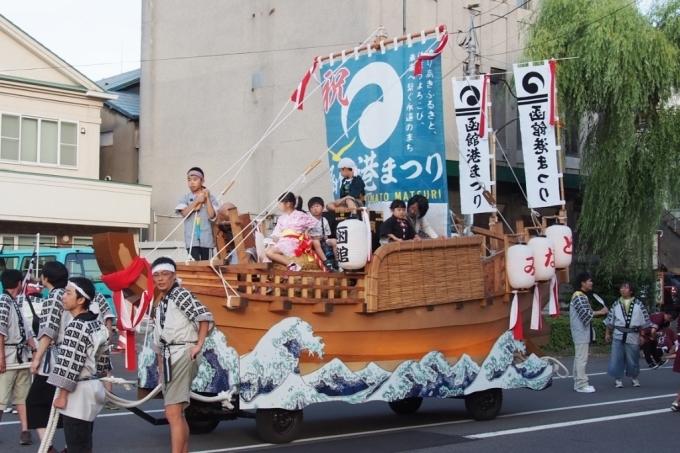 函館港まつり、わっしょいはこだて十字街大門コース。函館港おどり、子どもいか踊り、サマーカーニバル_b0106766_22210763.jpg