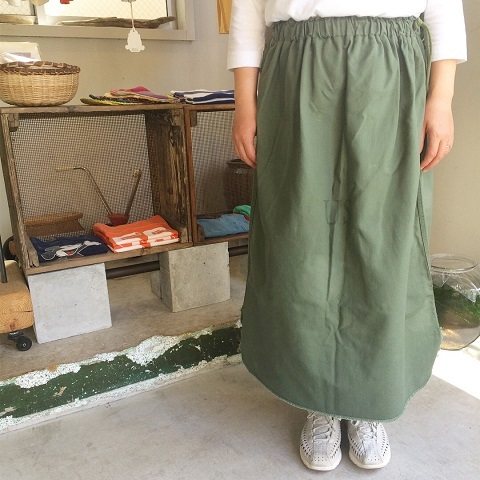 Remaked by folk : US.ARMY laundry bag → skirt_a0234452_19403691.jpg