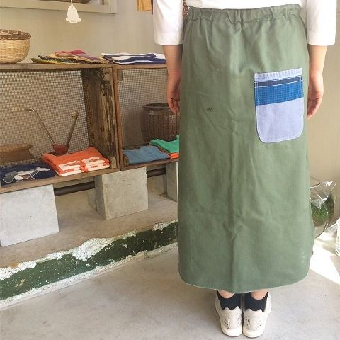 Remaked by folk : US.ARMY laundry bag → skirt_a0234452_19404627.jpg