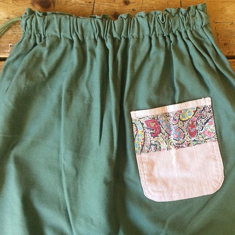 Remaked by folk : US.ARMY laundry bag → skirt_a0234452_19412926.jpg