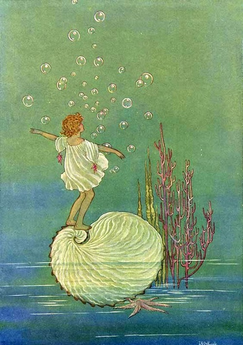 イダ・レントール・アウスウェイト画のタコブネに乗る妖精たち_c0084183_16413743.jpg