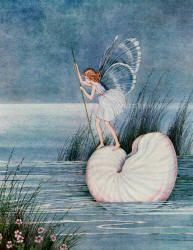 イダ・レントール・アウスウェイト画のタコブネに乗る妖精たち_c0084183_16423663.jpg