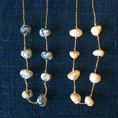 Suno & Morrison : cotton stone necklace_a0234452_18164301.jpg