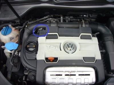 VW ゴルフバリアント(1Kヴァリアント) エンジンチェックランプ点灯 修理_c0267693_17462280.jpg