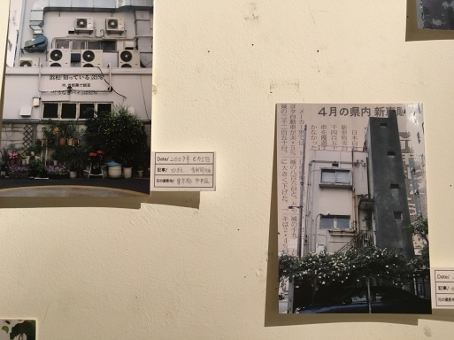 乾久子展 STAY IN REALITY 展覧会報告4 Newspaper Flowers_d0023170_13491122.jpg
