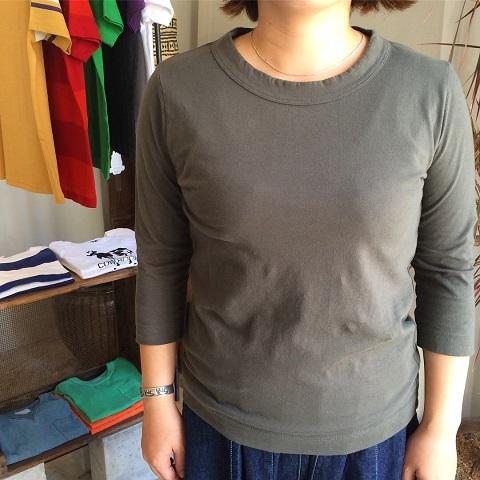 homspun : 天竺七分袖Tシャツ_a0234452_18252169.jpg