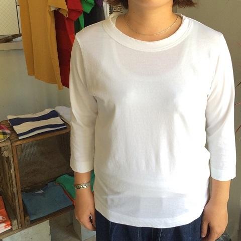 homspun : 天竺七分袖Tシャツ_a0234452_18252473.jpg