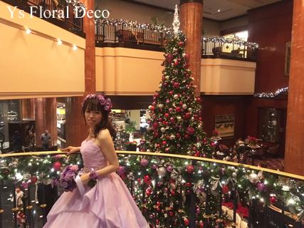 ラベンダー色のドレスにあわせるアクセサリーとブーケ ウェスティンホテル東京さんへ_b0113510_19425993.jpg