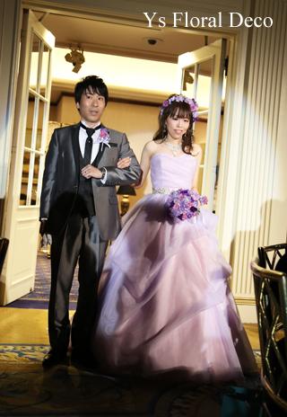 ラベンダー色のドレスにあわせるアクセサリーとブーケ ウェスティンホテル東京さんへ_b0113510_19431561.jpg