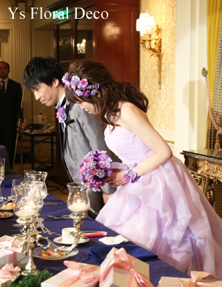ラベンダー色のドレスにあわせるアクセサリーとブーケ ウェスティンホテル東京さんへ_b0113510_19433386.jpg