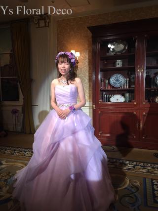 ラベンダー色のドレスにあわせるアクセサリーとブーケ ウェスティンホテル東京さんへ_b0113510_19435249.jpg