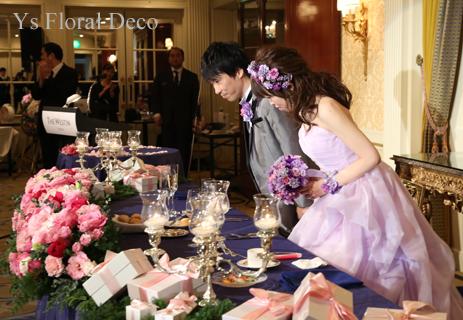 ラベンダー色のドレスにあわせるアクセサリーとブーケ ウェスティンホテル東京さんへ_b0113510_19460171.jpg