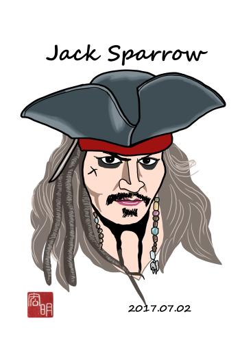 ジャック・スパロウを描きました。_f0337513_14303081.jpg