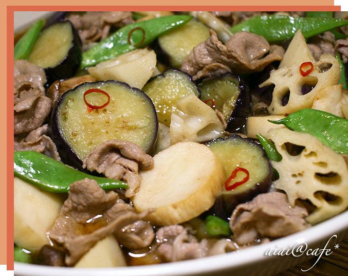 食感が楽しい♪豚肉と野菜のマリネ_a0056451_21294174.jpg