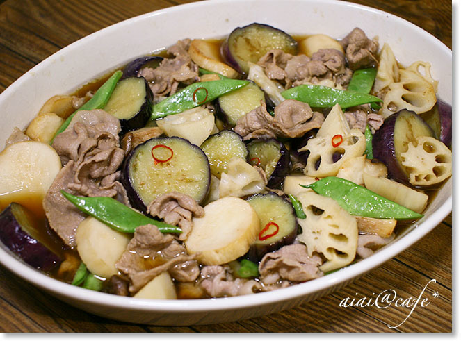 食感が楽しい♪豚肉と野菜のマリネ_a0056451_21294581.jpg
