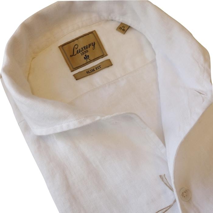 CIT LUXURY チット・ラグジュアリー リネンイタリアンカラーシャツ GNICO ホワイト・カーキ_c0118375_12390915.jpg