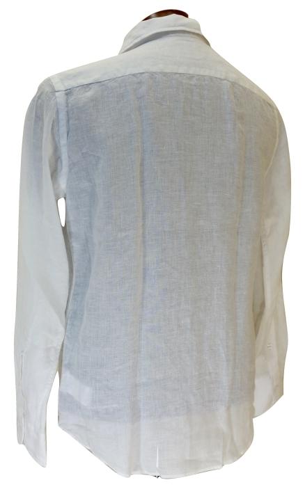 CIT LUXURY チット・ラグジュアリー リネンイタリアンカラーシャツ GNICO ホワイト・カーキ_c0118375_12395301.jpg