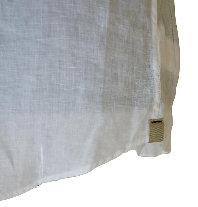 CIT LUXURY チット・ラグジュアリー リネンイタリアンカラーシャツ GNICO ホワイト・カーキ_c0118375_12404419.jpg