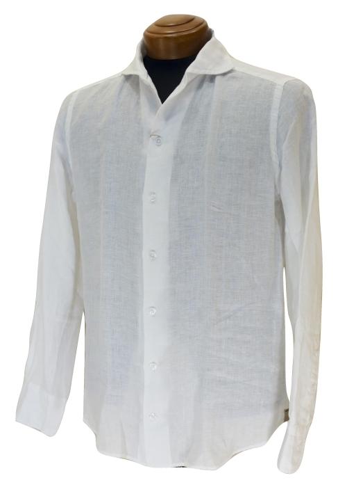 CIT LUXURY チット・ラグジュアリー リネンイタリアンカラーシャツ GNICO ホワイト・カーキ_c0118375_12440132.jpg