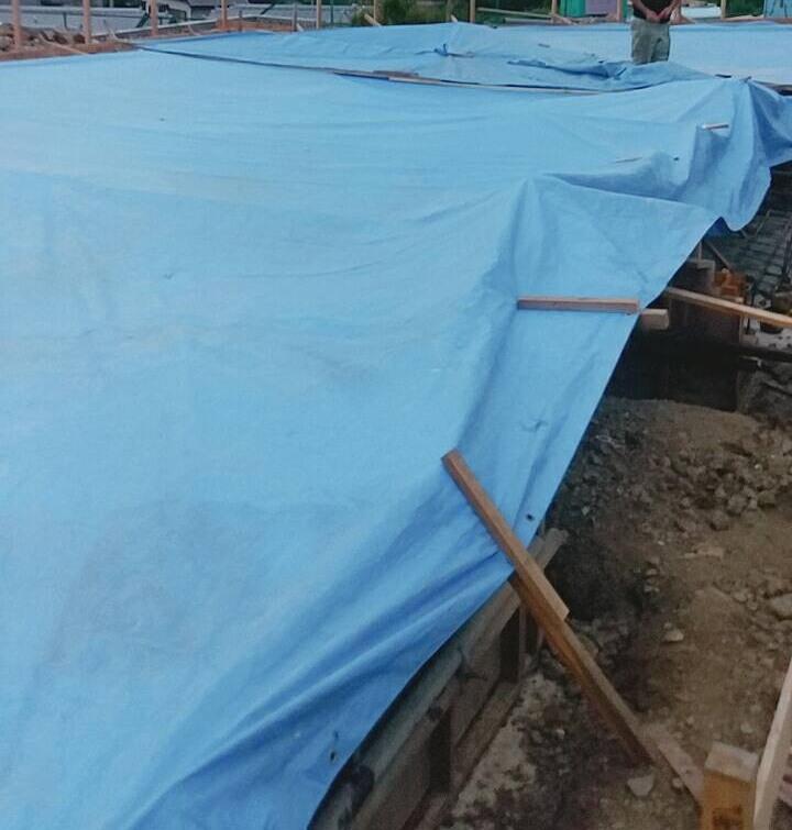TCさんの家 基礎コンクリート打設 2017/8/7_a0039934_17555500.jpg