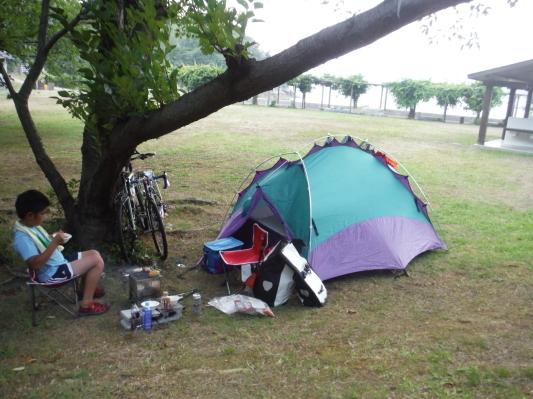 息子としまなみ海道キャンプサイクリング_c0132901_20315999.jpg