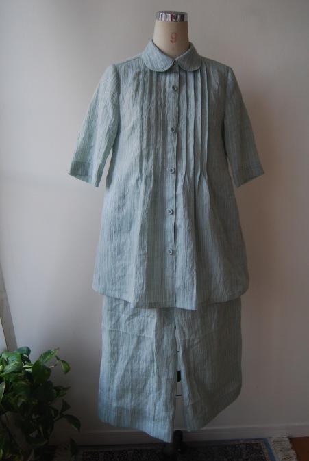 着物リメイク・麻のお着物からブラウス&ガウチョのset up!_d0127925_14422132.jpg