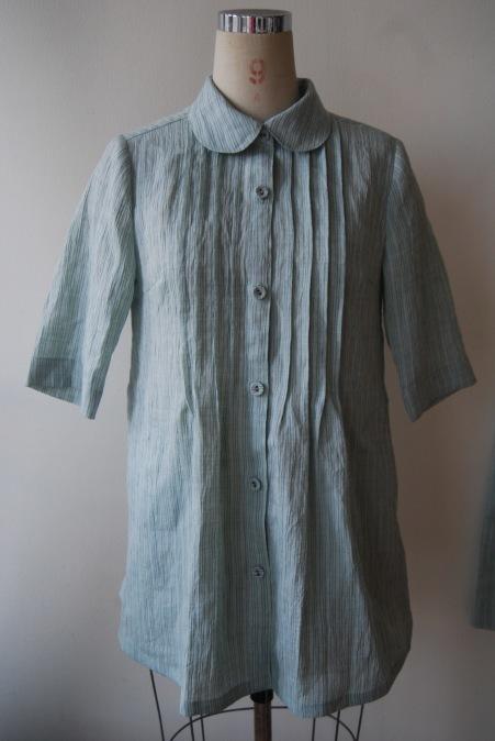 着物リメイク・麻のお着物からブラウス&ガウチョのset up!_d0127925_14435203.jpg