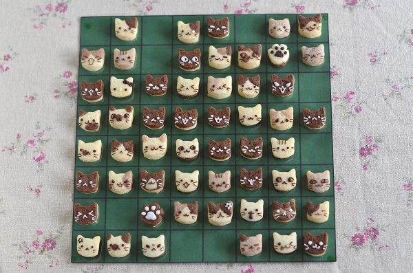 世界猫の日 猫オセロクッキー  Homemade Cat\'s Othello Cookies on International Cat Day_d0025294_13144951.jpg