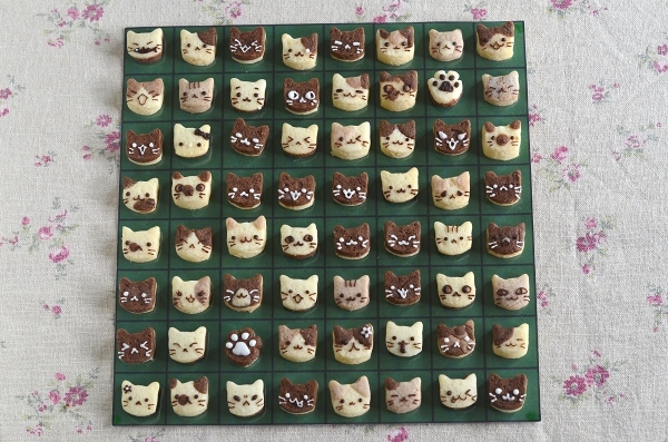 世界猫の日 猫オセロクッキー  Homemade Cat\'s Othello Cookies on International Cat Day_d0025294_13150241.jpg