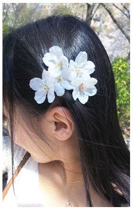 サクラの髪飾りを作りました。_d0224894_01113302.jpg
