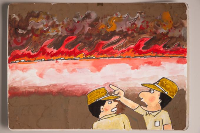 漫画家西山進氏、72年目の8月9日。_a0096313_07021652.jpg