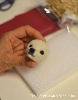 羊毛フェルトWS「マルチーズの子犬」レポート1_c0099133_21030210.jpg