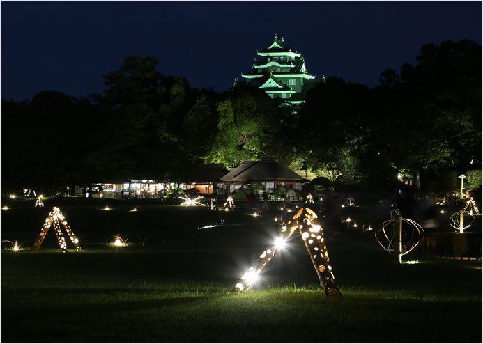 岡山後楽園 幻想庭園 ①_a0256349_1018539.jpg