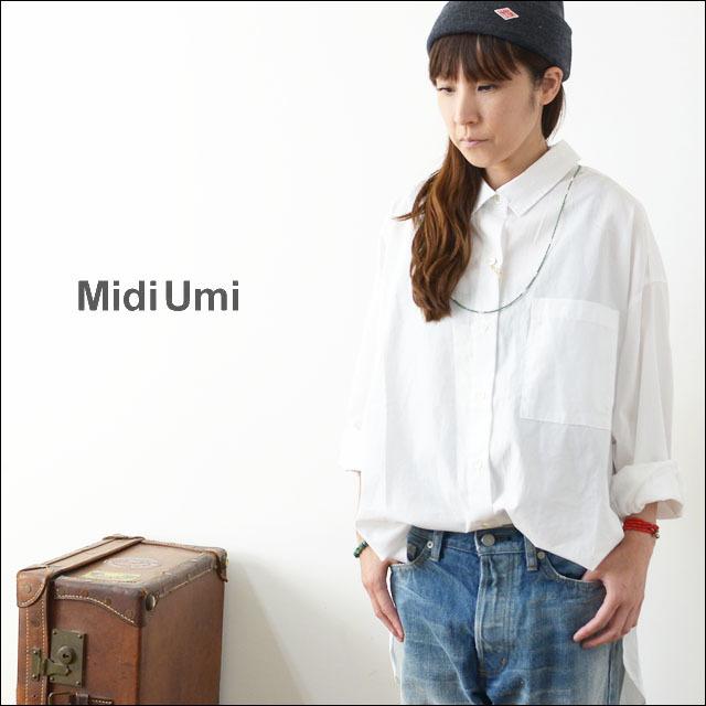 MidiUmi [ミディウミ] big shirt [3-733810A] ビッグシャツ・コットンシャツ・ワイドシャツ・長袖シャツ LADY\'S _f0051306_16553748.jpg