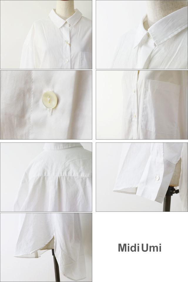 MidiUmi [ミディウミ] big shirt [3-733810A] ビッグシャツ・コットンシャツ・ワイドシャツ・長袖シャツ LADY\'S _f0051306_16554272.jpg