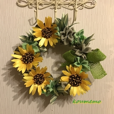 "Summer Wreath ""Sunflower\""*_c0216315_06204177.jpg"