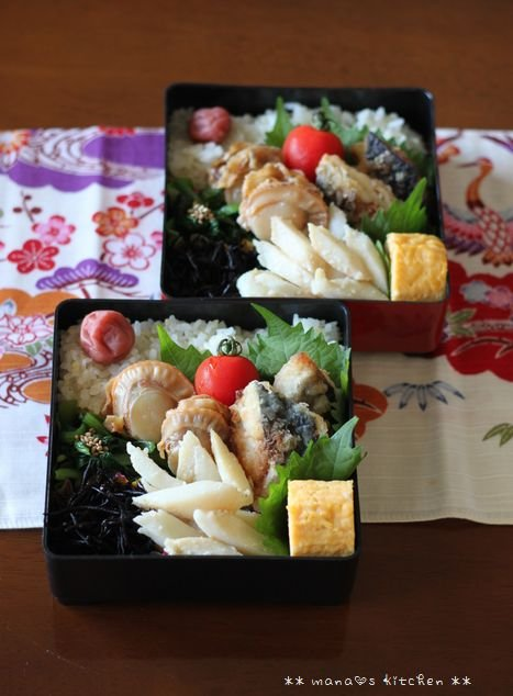 魚介弁当(๑¯﹃¯๑)♪_c0139375_11341342.jpg