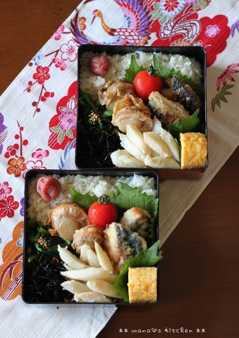 魚介弁当(๑¯﹃¯๑)♪_c0139375_11361211.jpg