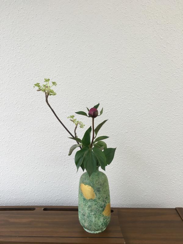 お茶花のお稽古 「 虫狩、都忘れ、芍薬 」_c0195496_11365577.jpg