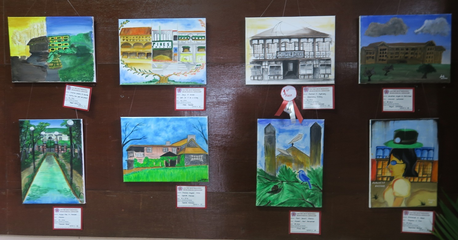 Winners of Baguio Historical/Heritage Site Painting Contest at Tanabata Festival 2017_a0109542_21494094.jpg